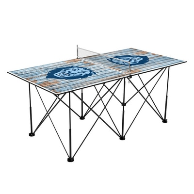 Columbia University Lions Pop Up Table Tennis 6ft Weathered Design