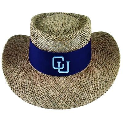 Columbia University LogoFit Tournament Natural Twisted Straw Gambler Style Hat