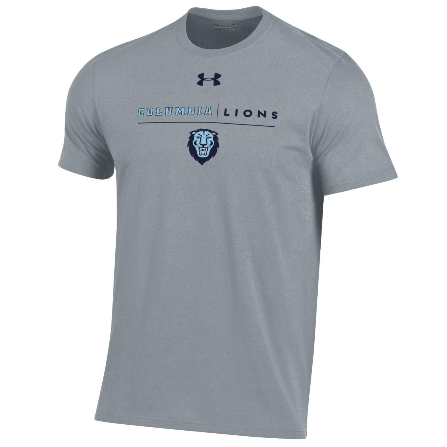 Columbia University Under Armour Youth Performance Cotton Short Sleeve