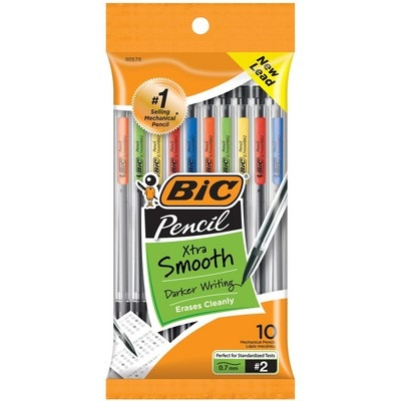 Bic Mechanical Pencils Medium Point 0.7mm #2 10Pack