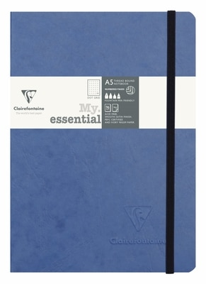 Exaclair Clairefontaine My Essential Paginated Notebook Blue