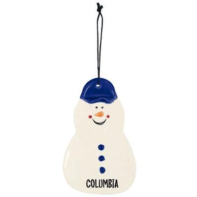 Columbia University Snowman Ornament