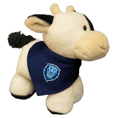 Columbia University 6in Plush Cow Short Stack with Bandana