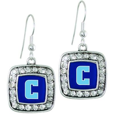 Columbia University Silver Square Earring