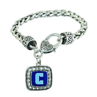 Columbia University Silver Square  Bracelet