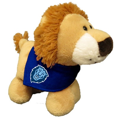 Columbia University 6in Plush Lion Short Stack with Bandana