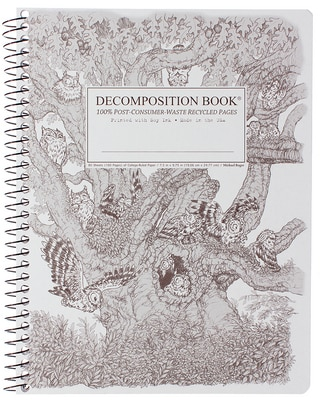 Screech Owls Coilbound Decomposition Book Lined 7.5x9.75