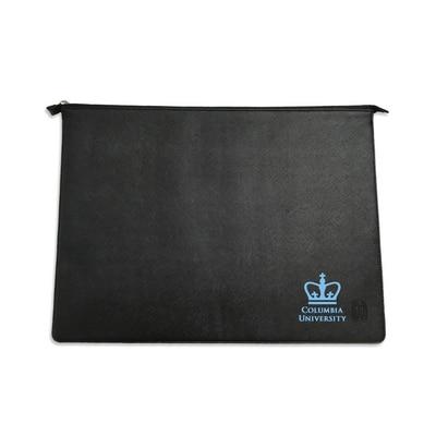 Columbia University Alumni Black Leather Laptop Sleeve