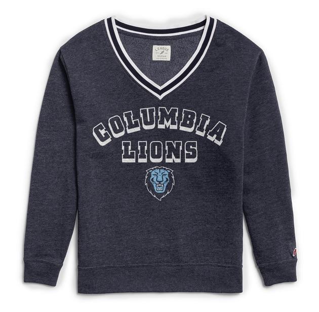 Columbia University League Women's Victory Springs Crew Pullover Sweatshirt