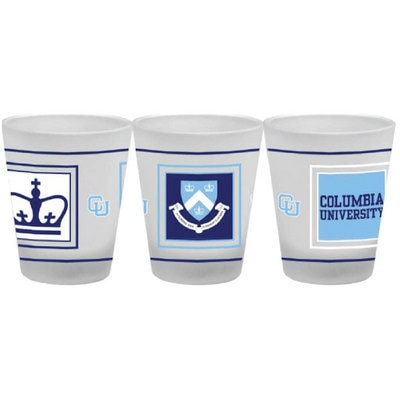 Columbia University 1.5 oz Frosted Shot Glass
