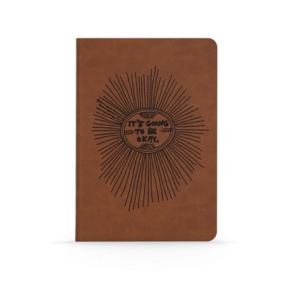 It's going to be okay Vegan Leather Lined Notebook