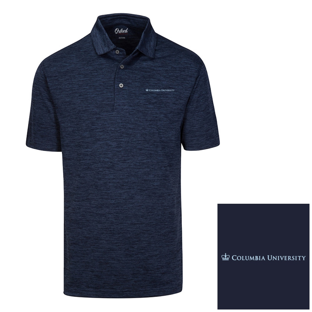 Columbia University Oxford America Snyder Heathered Jersey Polo