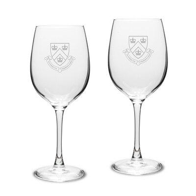 Columbia University White Wine Glass 2pk