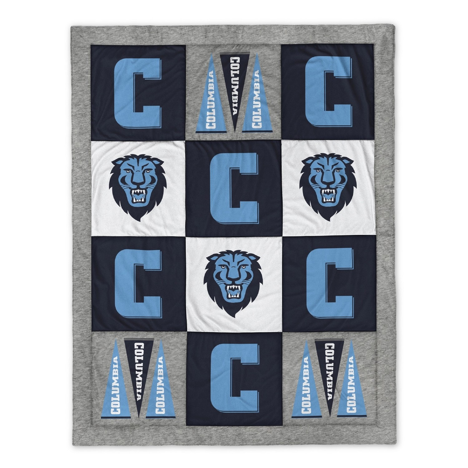 """Columbia University 80"""" x 62"""" Quilted Blanket"""