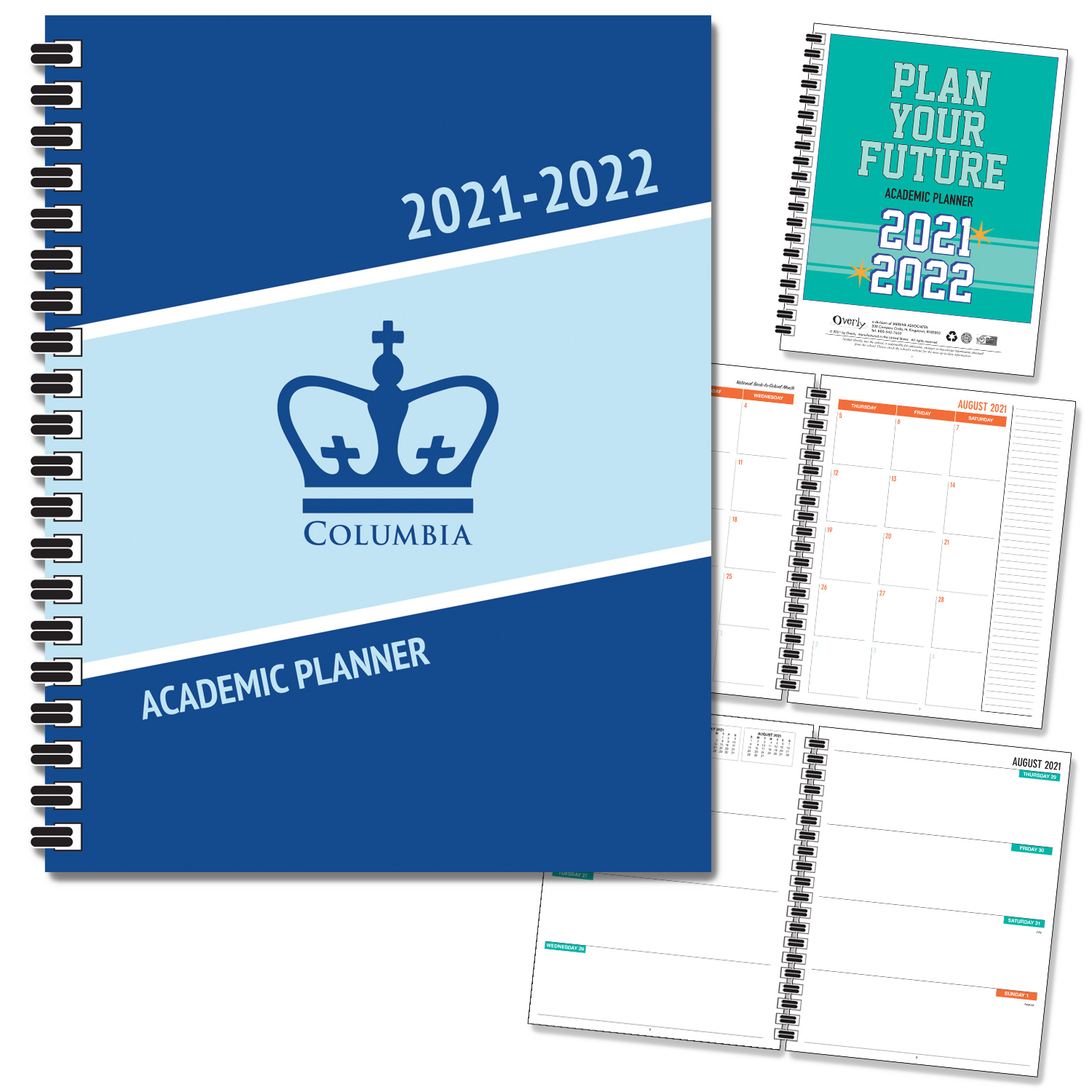 Columbia University 20-21 7x9 Soft Cover  Planner