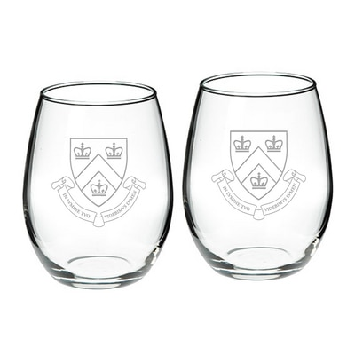 Columbia University Stemless Wine Gl 2-Pack