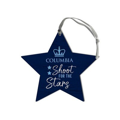 Columbia University Retro Shape Wood Ornament