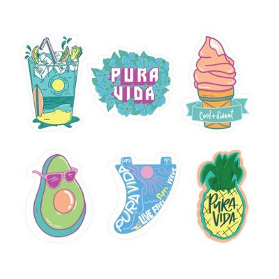 Cool and Sweet Stickers - 6 Pack