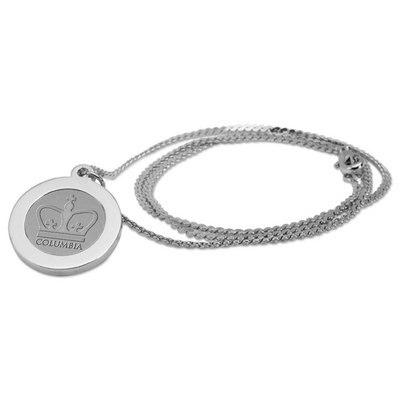 Columbia University Necklace Pendant - Silver