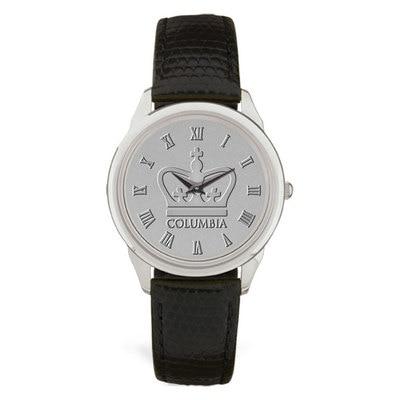 Columbia University CSI Men's Watch Leather Strap - Silver
