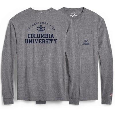 Columbia University League All American Ringspun Short Sleeve Pocket T-Shirt