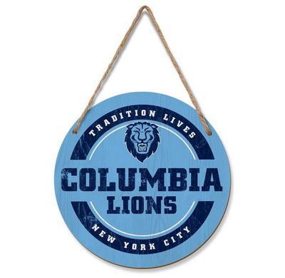 Columbia University Hanging Circle Sign