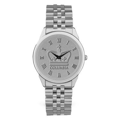 Columbia University CSI Men's Watch Link Bracelet - Silver