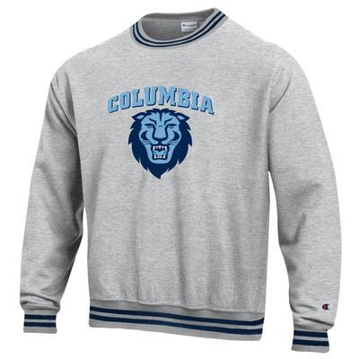 Columbia University Champion Yarn Dye Reverse Weave Sweatshirt