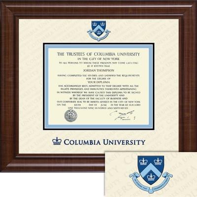 """Church Hill Classics 10.5"""" x 12.5"""" Dimensions Plus Walnut Diploma Frame"""
