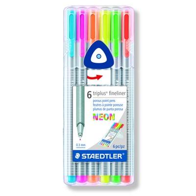 Fineliner triplus neon 6pcs box