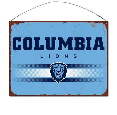 Columbia University Large Rectangle Tin Sign