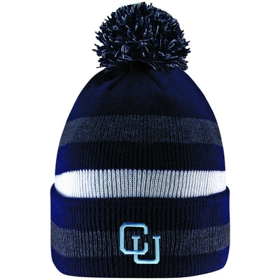 Columbia University LogoFit Primetime Striped Cuff Hat With Pom