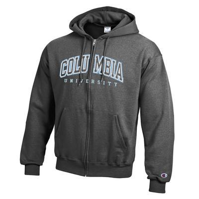 Columbia University Champion Powerblend Full-Zip Hoodie