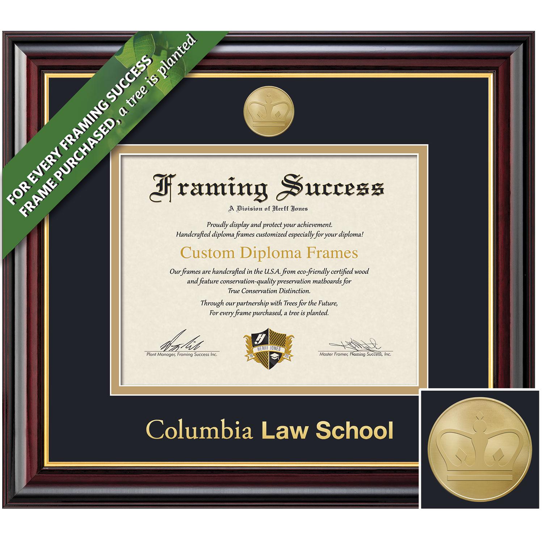Framing Success 14 x 17 Windsor Gold Medallion Law Diploma Frame