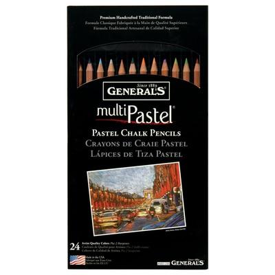 General Pencil 24-Color Pastel Chalk Pencil Set