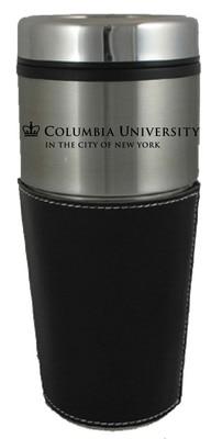 Columbia University 16 oz SS Trvl Mug w/Leather Wrp