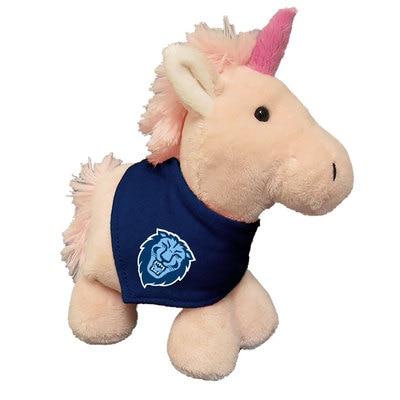 Columbia University 6in Plush Unicorn Short Stack with Bandana