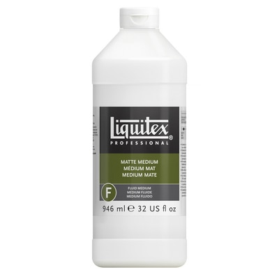 Liquitex Matte Fluid Medium, Quart