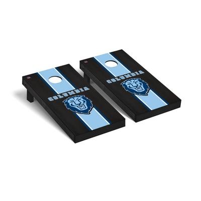 Columbia University Regulation Cornhole Game Set Onyx Stained Stripe Version