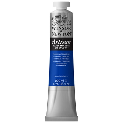 Winsor & Newton Artisan Water Mixable Oil Colours, 200ml Tube, French Ultramarine