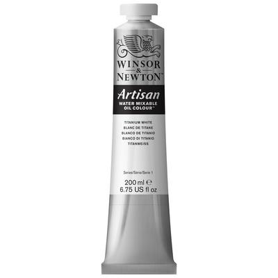 Winsor & Newton Artisan Water Mixable Oil Colours, 200ml Tube, Titanium White