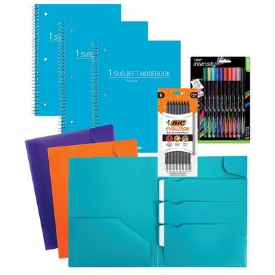 School Supplies Fashion Essentials Vlaue Bundle 8pc