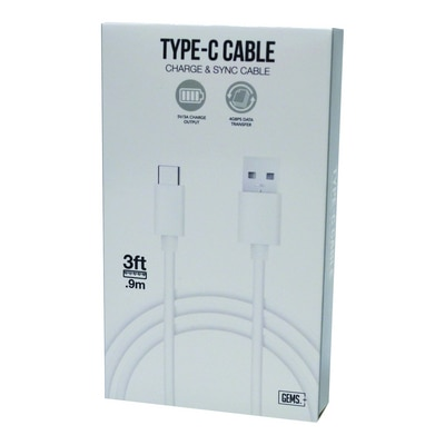 GEMS USB-C Cable White