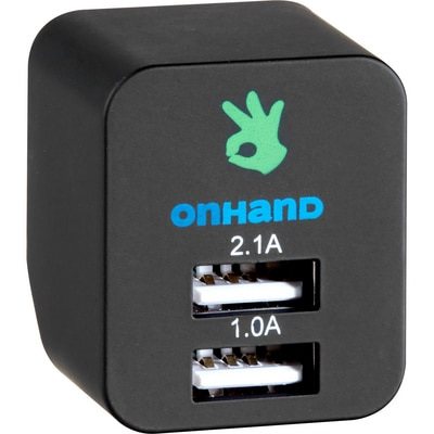 OnHand Wall Charger with Dual USB