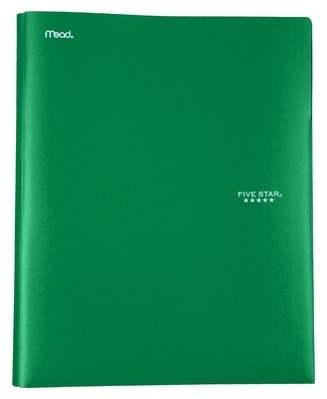 Five Star Plastic Pocket and Prong Folder Assorted Colors