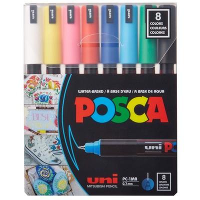 POSCA 8-Color Paint Marker Set, PC-1MR Ultra-Fine