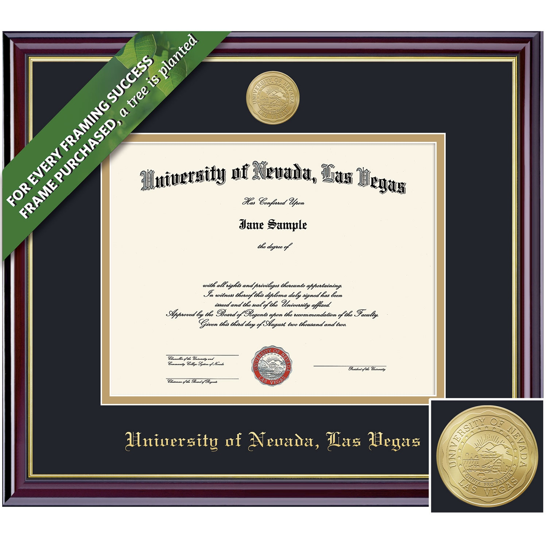 Framing Success 11 x 14 Windsor Gold Medallion PhD Diploma Frame