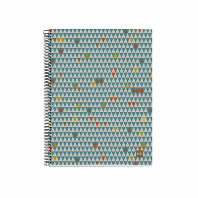 Mr Recycled Triangles Notebook Medium