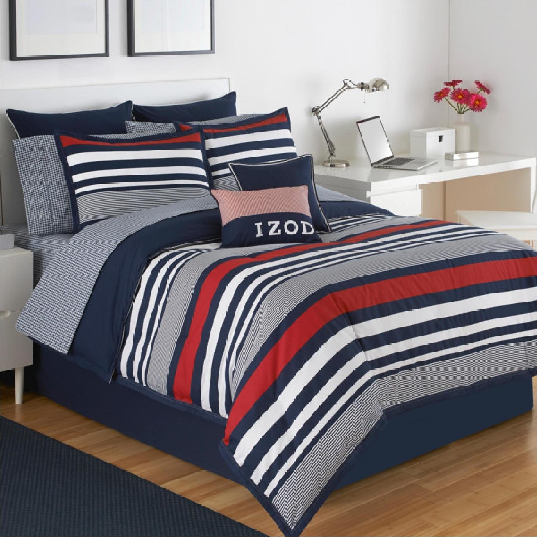 IZOD Varsity Stripe King Comforter Set