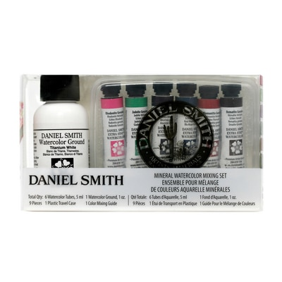 Daniel Smith Extra-Fine Watercolor Introductory Set, Mineral Mixing Set, 9 Pieces